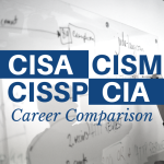 CISA CISM CISSP CIA career comparison